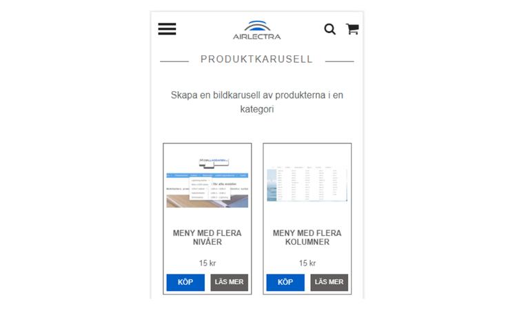 Produktkarusell