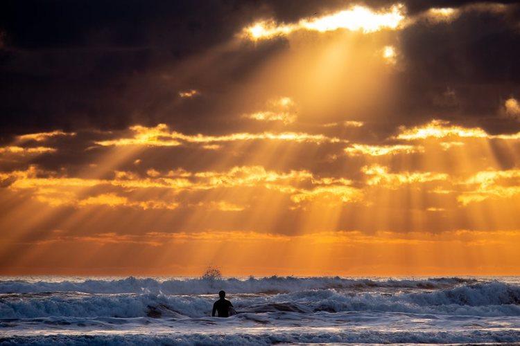 Sol över havet