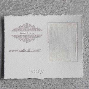 Färgprov kalklitir /Ivory