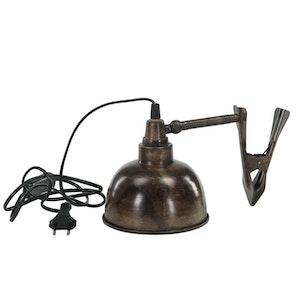 Lampa, clip /Antikbrun
