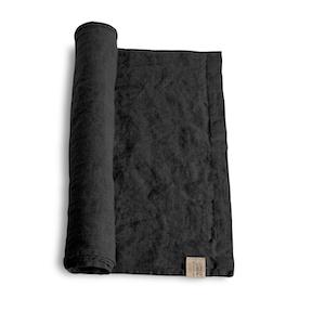 Lovely linen - Löpare, dark grey