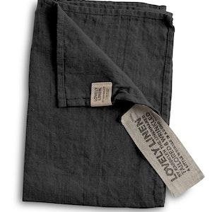 Lovely linen - Gästhandduk, dark grey