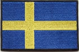 Svensk Flagga Patch Kardborre