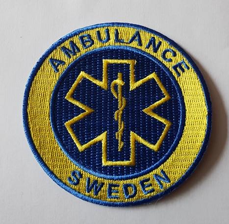 Ambulance Sweden Patch Kardborre