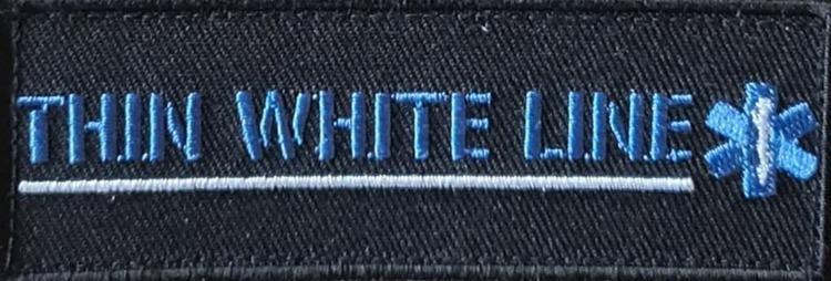 Thin White Line Patch Kardborre