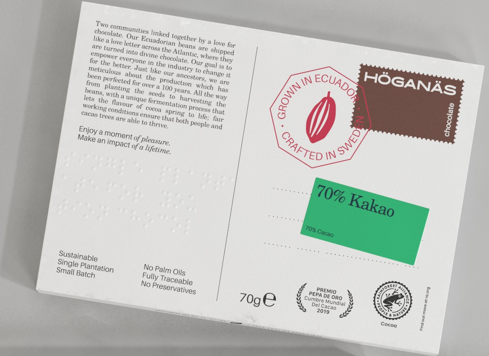70% Kakao Höganäs Chocolate Kakor 70g