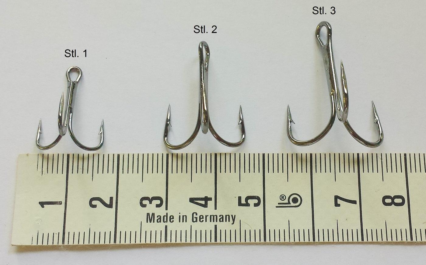 Trekrokar 5 st, olika storlekar