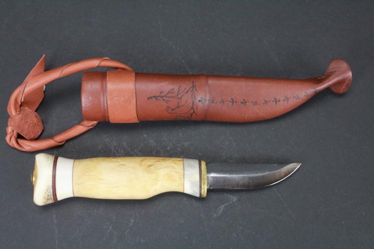 Kniv med läderslida, Kero