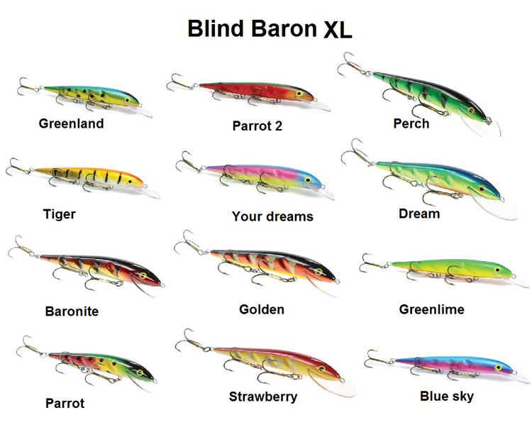 Blind Baron XL 18cm, olika färgval