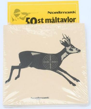 Måltavlor med rådjursmotiv, Normark, 50 pack