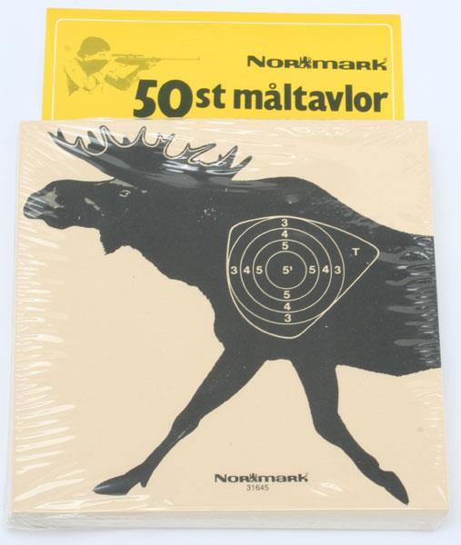 Måltavlor med älgmotiv, Normark, 50 pack
