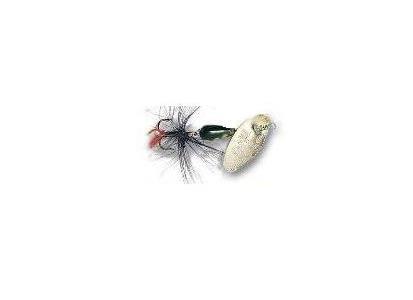 Spinnare Panther Martin, Silverfärgad sked, gula prickar svart kropp, 6 gram