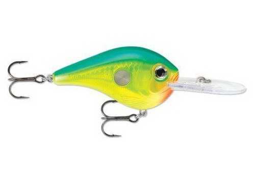 Vobbler Rapala Clackin' Crank Blå grön gul 60 mm (100 med sked)