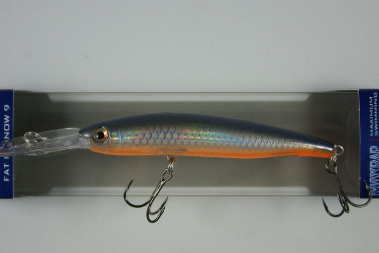 Vobbler Rapala Fat Minnow ,Flake Silver Steel, ca 120 mm, inkl skeden