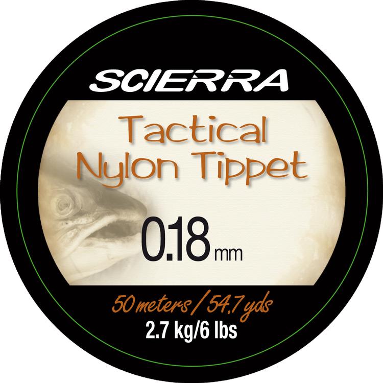 Fiskelina Flugtafs Scierra Tactical Nylon Tippet 0,18mm 2,7kg 50m