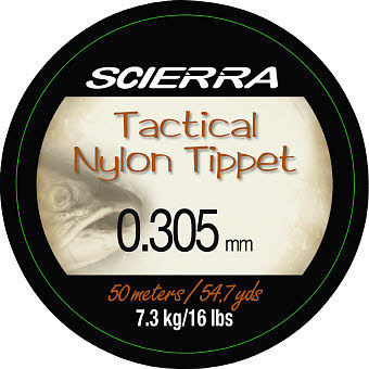 Fiskelina Flugtafs Scierra Tactical Nylon Tippet 0,305mm 50m 7,3kg