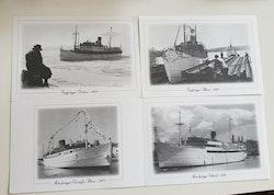 Set of four Swedish ships.