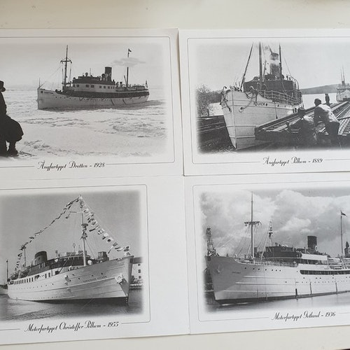 Set of four Swedish ships.
