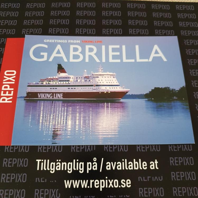 Postcard Viking Line Gabriella