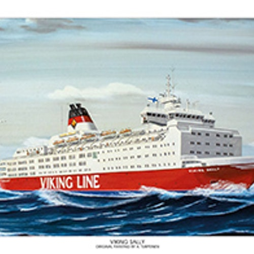Viking Line Sally Miniposter
