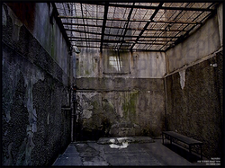 KGB prison yard in Riga