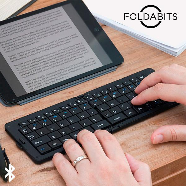 Hopfällbart tangentbord med Bluetooth Foldabits