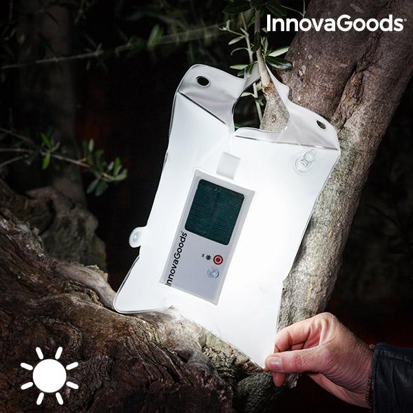 Uppblåsbar kudde med LED och solcell InnovaGoods