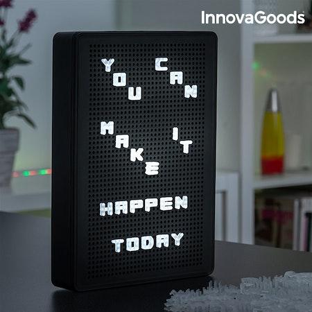 Håltavla med LED-bokstäver InnovaGoods