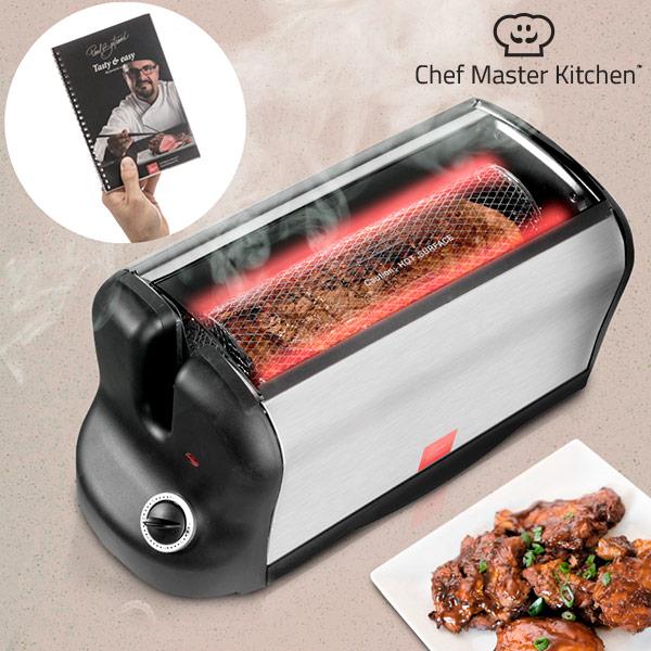 Elektrisk ugn bärbar Smart Rotisserie S med receptbok 600W