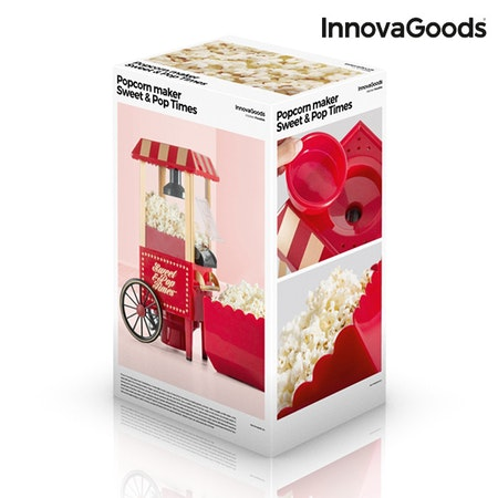 Popcornmaskin Sweet & Pop Times InnovaGoods 1200W Röd