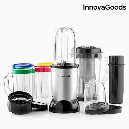Glasmixer Blender med receptbok One Touch InnovaGoods 250W Grå