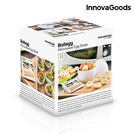 Äggkokare för Mikrovågsugn med Receptbok Boilegg från InnovaGoods