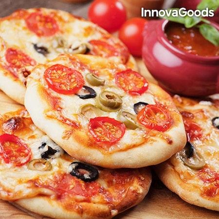 InnovaGoods 700W Red Black Presto! Mini Pizza Ugn med Recept Boken