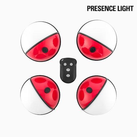 LED Ficklampa med fjärrkontroll (4 st)