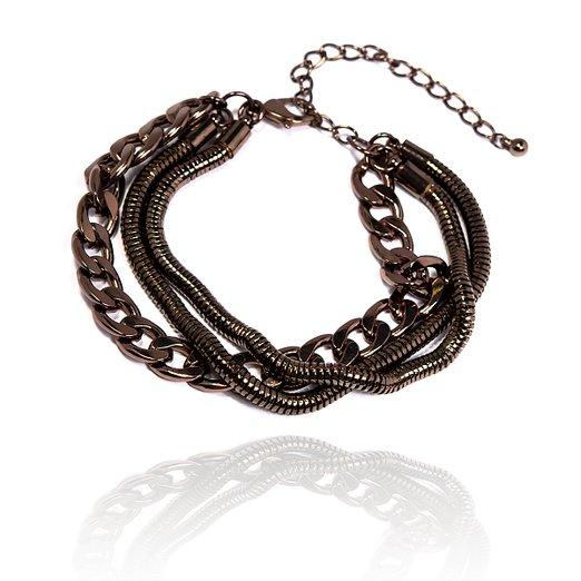 Treradigt chokladbrunt armband