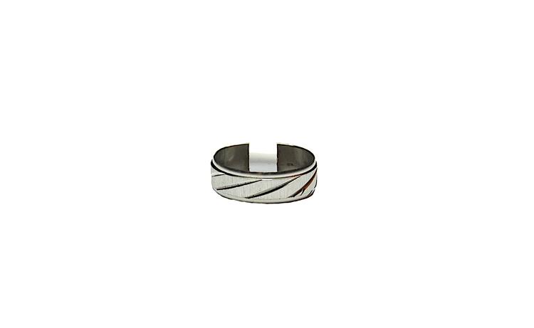 Silverfärgad stålring