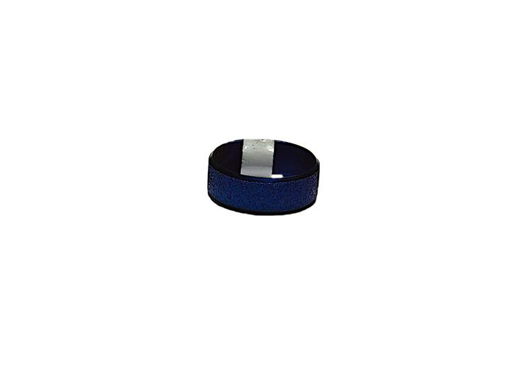 Klarblå glittrig stålring