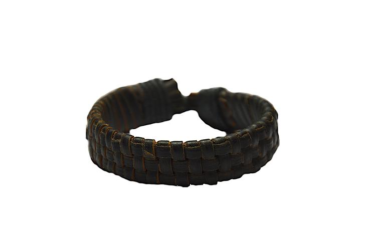 Mörkbrunt läderarmband