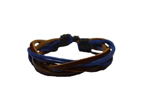Cognacsfärgat läderarmband