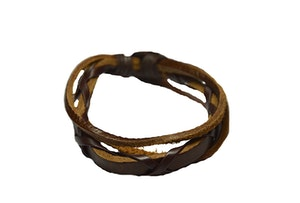 Läderarmband i brunt