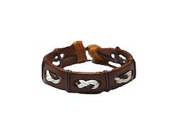 Armband i brunt