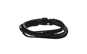 Läderarmband i svart