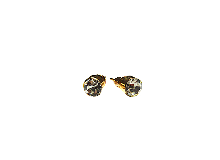 Guldfärgade örhänge med sten