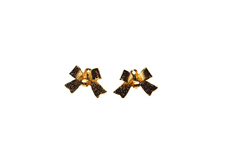 Rosettörhänge i guldfärg
