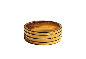 Guldfärgad kraftig stålring
