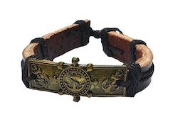 Båtinspirerat läderarmband