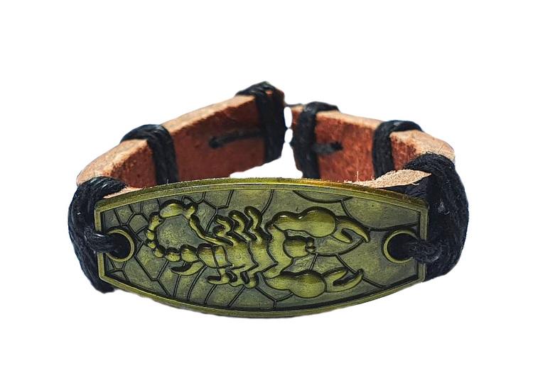 Läderarmband med skorpion