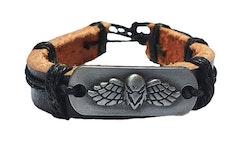 Läderarmband med fågel