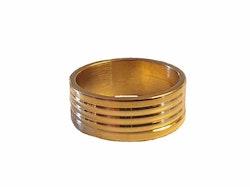 Guldfärgad bred stålring