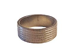 Glittrig silverfärgad stålring